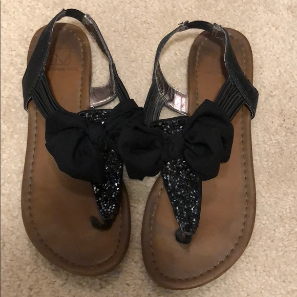 Madden Girl Shoes | Black Bow Sandals